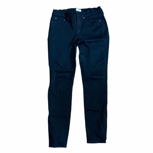 J Crew Toothpick Skinny Denim Black Jeans Size 28